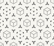Vector seamless pattern. Modern stylish monochrome abstract geom Royalty Free Stock Image
