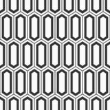 Vector seamless pattern. Modern stylish texture of elongated hexagons. Ancient mosaic wallpaper. Grid motif. Digital paper for print. Monochrome illustration stock illustration