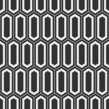 Vector seamless pattern. Modern stylish texture of elongated hexagons. Ancient mosaic wallpaper. Grid motif. Digital paper for print. Monochrome illustration royalty free illustration