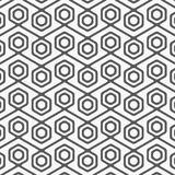 Vector seamless pattern. Modern stylish texture with monochrome trellis. Repeating geometric hexagonal grid. Royalty Free Stock Image