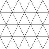 Vector seamless pattern. Modern stylish texture with monochrome trellis. Repeating geometric triangular grid. Simple graphic stock illustration