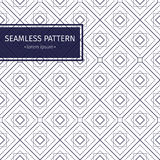 Vector seamless pattern. Modern stylish texture with monochrome trellis. Repeating geometric triangular grid. Simple Royalty Free Stock Photography