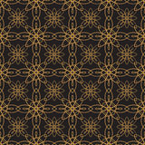 Vector seamless pattern. Modern Stylish Texture. Repeating Geometric Background. Black and Gold Colors.  Stock Image