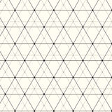 Vector seamless pattern. Modern stylish texture. Repeating geometric background with linear triangles, rhombuses  Royalty Free Stock Photography
