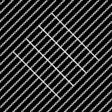 Vector seamless pattern. Modern stylish texture. Repeating geometric tiles with diagonal lines in monochrome Stock Photo