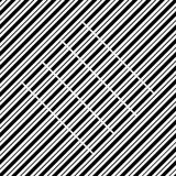 Vector seamless pattern. Modern stylish texture. Repeating geometric tiles with diagonal lines in monochrome Royalty Free Stock Photography