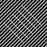 Vector seamless pattern. Modern stylish texture. Repeating geometric tiles with diagonal lines in monochrome Royalty Free Stock Photos