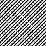 Vector seamless pattern. Modern stylish texture. Repeating geometric tiles with diagonal lines in monochrome Stock Image