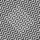 Vector seamless pattern. Modern stylish texture. Repeating geometric tiles with diagonal lines in monochrome Stock Images