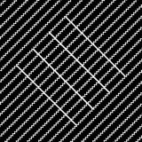 Vector seamless pattern. Modern stylish texture. Repeating geometric tiles with diagonal lines in monochrome Stock Photos