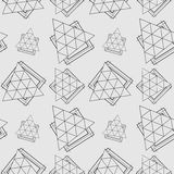 Vector seamless pattern. Modern stylish texture. Repeating geometric tiles with dotted rhombus Stock Photos