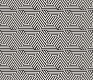 Vector seamless pattern. Modern stylish texture. Repeating geometric tiling from striped triangle elementsr Royalty Free Stock Image