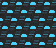 Vector seamless pattern. Modern stylish texture with structure of repeating clouds with rain. Stock Photography