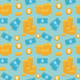 Vector seamless pattern with money icons Royalty Free Stock Images