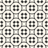 Vector seamless pattern, monochrome geometric texture, smooth pe Stock Photography
