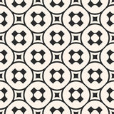 Vector seamless pattern, monochrome geometric texture, smooth pe Royalty Free Stock Image