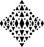Vector seamless pattern, monochrome mosaic texture, ornamental b vector illustration
