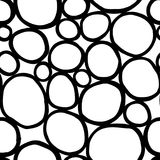 Monochrome organic rounds. Handdrawn abstract background with cells. Vector seamless pattern. Monochrome organic rounds. Stylish structure of natural cells vector illustration