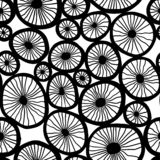 Vector pattern. Stylish structure of natural cells royalty free stock photos