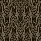 Vector seamless pattern monochrome ornament. Geometric backgroun Stock Photo