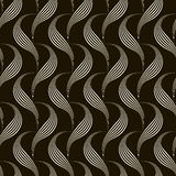 Vector seamless pattern monochrome ornament with stylized geomet Stock Photo