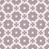 Vector geometric seamless pattern with mosaic tiles. Pale purple and beige floral retro ornament. Vector seamless pattern with mosaic tiles. Geometric floral Royalty Free Stock Photos