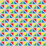 Vector seamless pattern with multi-colored triangles. Stock Image