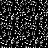 Vector seamless pattern with music notes Stock Photo