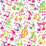 Vector seamless pattern with music notes Royalty Free Stock Photo