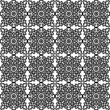 Vector seamless pattern with national Russian lace black and white. Stock Image