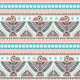 Vector seamless pattern with native American Stock Photo