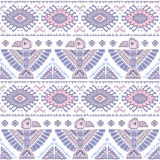 Vector seamless pattern with native American Royalty Free Stock Photography
