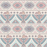 Vector seamless pattern with native American Royalty Free Stock Image