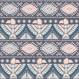 Vector seamless pattern with native American Stock Image