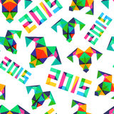 Vector seamless pattern, New Year 2015.  Stock Image