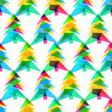 Vector seamless pattern, New Year 2015.  Stock Photo