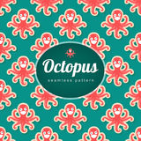 Vector seamless pattern with octopus Royalty Free Stock Images