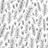Vector seamless pattern with olive leaves, branches stock illustration