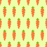 Vector seamless pattern with orange carrots. Vegetable summer pattern, colorful print for design. Royalty Free Stock Photos