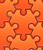Vector seamless pattern with orange hexahedron Stock Images