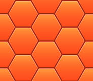 Vector seamless pattern with orange hexahedron Stock Image