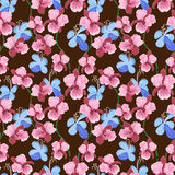 Vector seamless pattern with orchid Stock Image