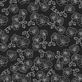 Vector seamless pattern with orchids. Stock Photo