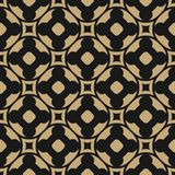 Vector seamless pattern in oriental style. Black and gold floral ornament Vector Illustration