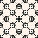 Vector seamless pattern in oriental style. Monochrome geometric Royalty Free Stock Photo