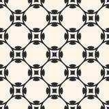 Vector seamless pattern in oriental style. Monochrome geometric Royalty Free Stock Photo