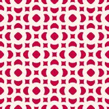 Vector seamless pattern in oriental style. Red and beige. Geometric ornament, abstract background texture with floral shapes, circles, squares. Winter festive Stock Images
