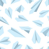 Vector seamless pattern with Origami plane collection Royalty Free Stock Photos