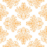 Vector seamless pattern with ornate detailed ornament Royalty Free Stock Photography