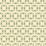 Vector seamless pattern with ornate elements in Art Nouveau or Modern style on the beige background. Stock Photography